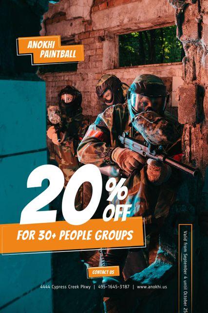 Szablon projektu Paintball Club Ad with People holding Guns Tumblr