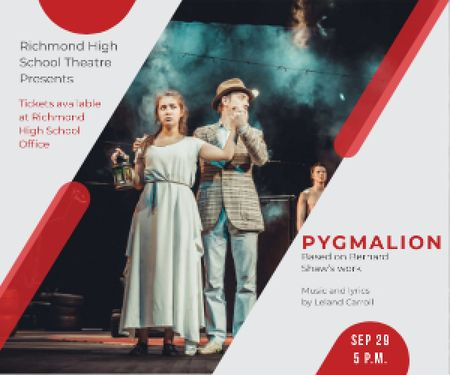 Pygmalion performance in Richmond High Theater Medium Rectangle Modelo de Design