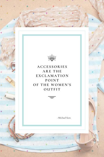 Citation about women's Accessories Pinterest Design Template