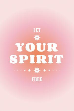 Astrological Inspirational Phrase on pink Tumblr tervezősablon