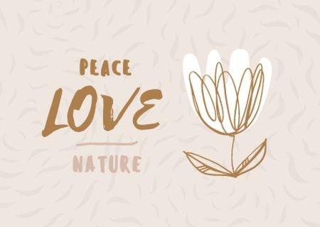 Ontwerpsjabloon van Card van love nature