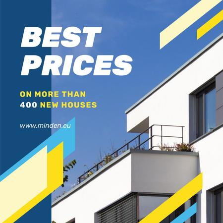 Plantilla de diseño de Real Estate Property Offer White House Instagram AD
