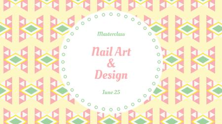 Nail Art Masterclass Announcement FB event coverデザインテンプレート
