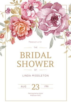 bridal shower Pinterest Design Template