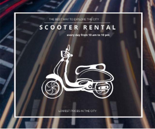 Plantilla de diseño de Scooter rental advertisement Large Rectangle