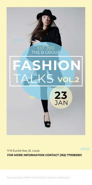 Szablon projektu Fashion talks poster Graphic