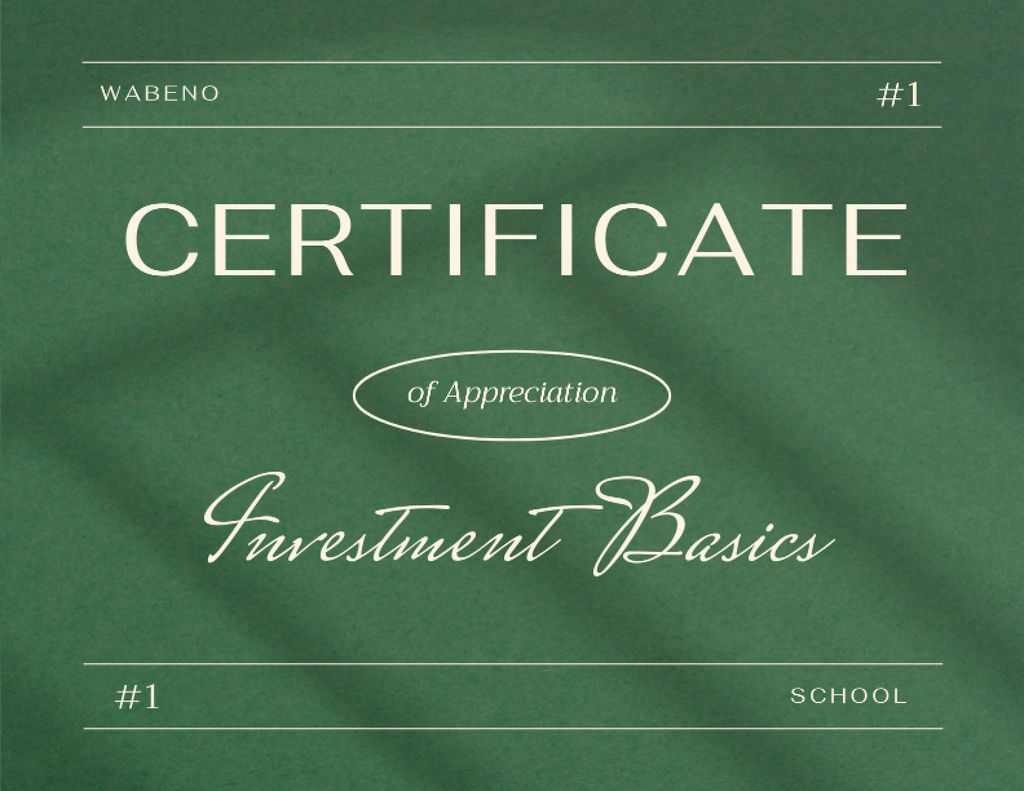 Achievement Award in Business School Certificate Πρότυπο σχεδίασης