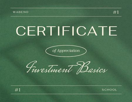 Achievement Award in Business School Certificate – шаблон для дизайну