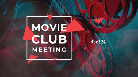 Movie Club Meeting Announcement FB event cover Modelo de Design