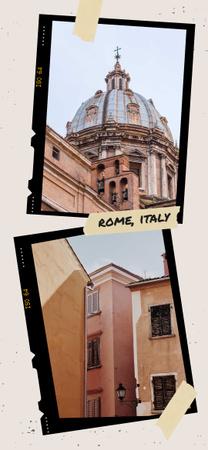Plantilla de diseño de Rome old buildings view Snapchat Geofilter