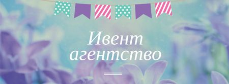 Event Agency Services Offer with Flowers Facebook cover – шаблон для дизайна