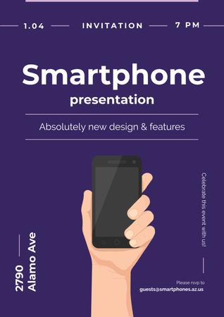 Invitation to new smartphone presentation Poster Design Template