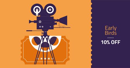 Plantilla de diseño de Cannes Film Festival Tickets Offer Facebook AD