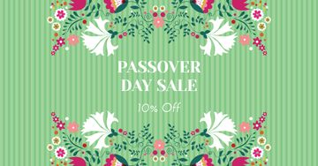 Passover Day Sale with Flowers
