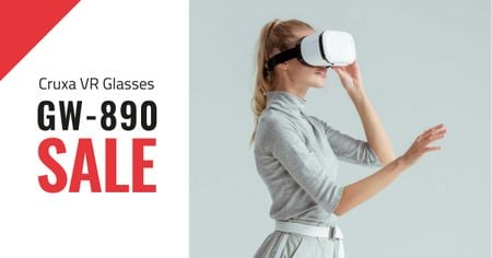 Template di design VR Glasses Special Offer Facebook AD