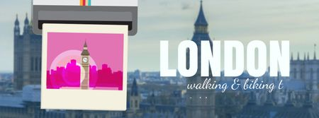 Template di design London Big Ben Famous Travelling Spot Facebook Video cover