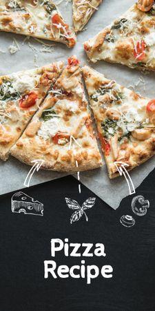 Delicious Italian Pizza menu Graphic Modelo de Design