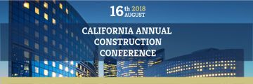 Construction Conference Announcement Modern Glass Buildings
