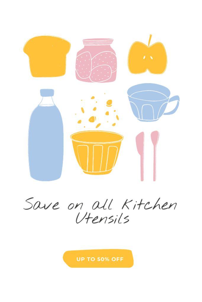 Kitchen Utensils sale Tumblr Design Template