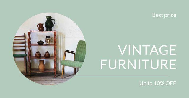 Plantilla de diseño de Vintage Furniture Shop Ad Antique Cupboard Facebook AD