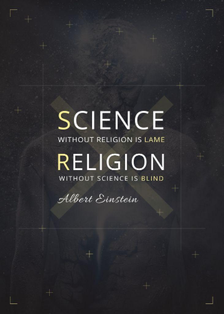 Religion Quote with Human Image — Créer un visuel