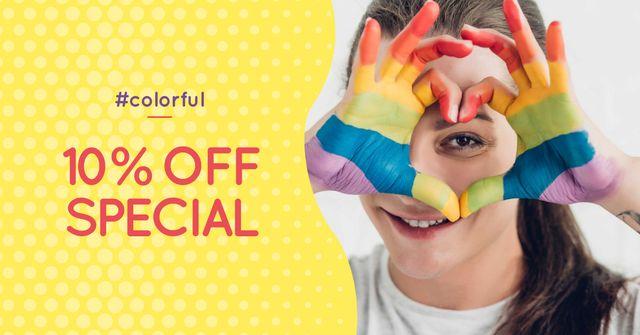 Pride Month Special Offer Facebook AD Design Template