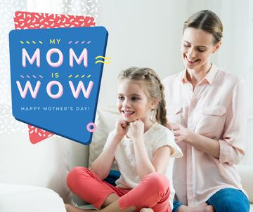 Happy Mom with daughter on Mother's Day