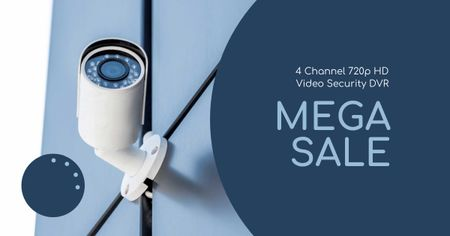 Template di design CCTV Camera Sale Offer Facebook AD