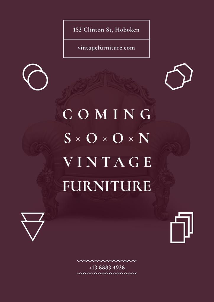 Vintage furniture shop Opening — Crear un diseño