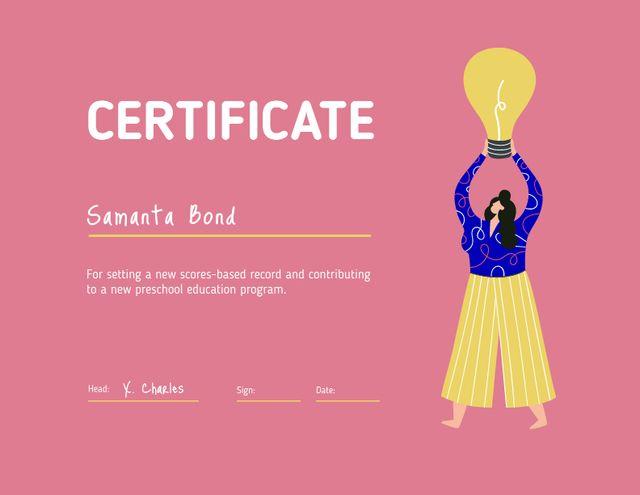 Educational Program Completion Award Certificate Modelo de Design