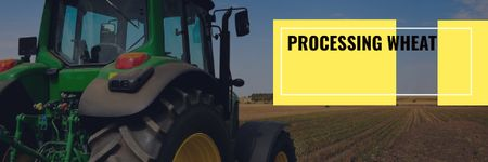Template di design Agriculture with Tractor Working in Field Email header