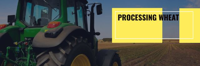 Plantilla de diseño de Agriculture with Tractor Working in Field Email header