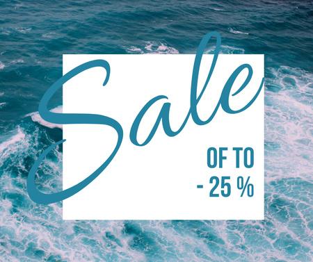 Travel Discount Offer with Sea Waves Facebook – шаблон для дизайна
