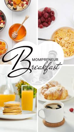 Modèle de visuel Fresh Healthy Breakfasts Ad - Instagram Story