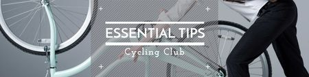 Ontwerpsjabloon van Twitter van Cycling club Tips Ad