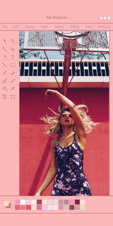 Modèle de visuel Beautiful Young Woman posing in City - Graphic