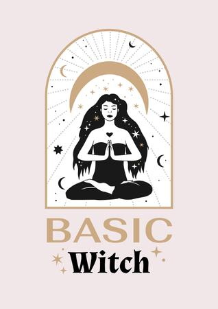 Template di design Astrological Inspiration with meditating Witch Poster