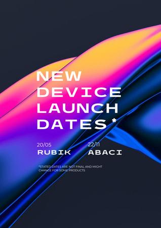 Designvorlage New Device Launch Announcement für Poster