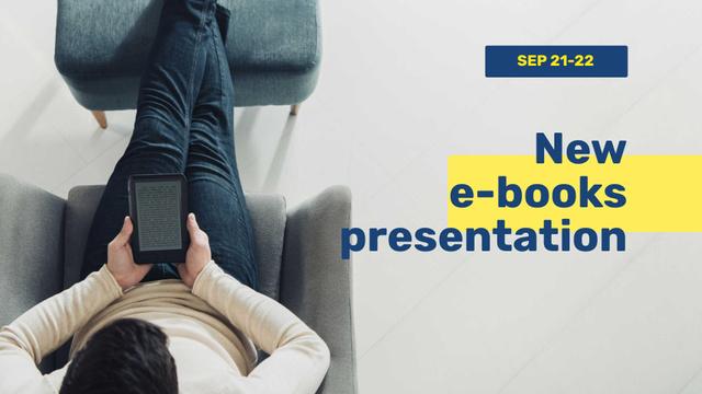 Szablon projektu E-readers Offer Man Reading Book FB event cover