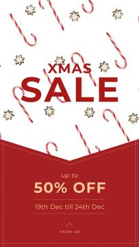 Christmas Sale with Candy Cane and Cookies