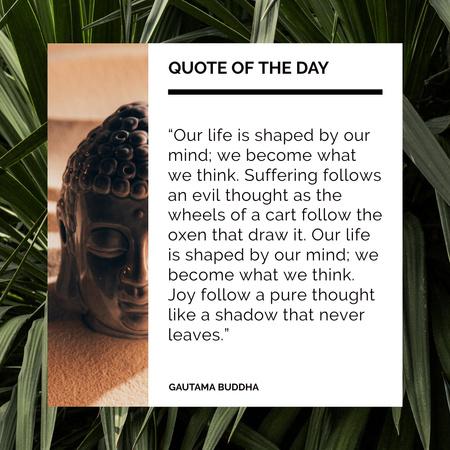 Inspirational Quote by Buddha Instagram – шаблон для дизайну
