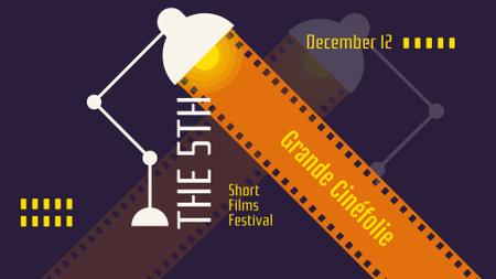 Ontwerpsjabloon van FB event cover van Short Films Festival Announcement