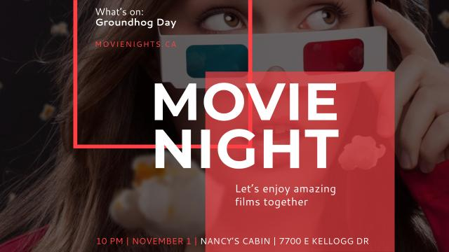 Template di design Movie Night Event Woman in Glasses Youtube