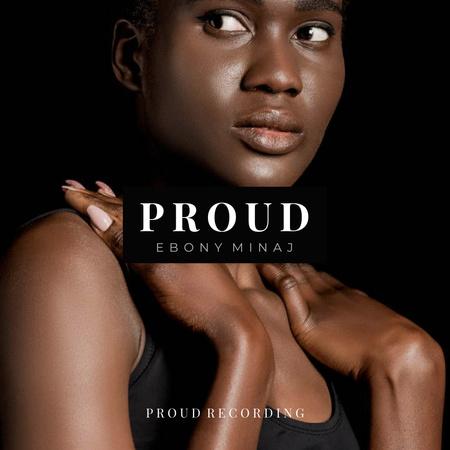 Beautiful Young African American Woman Instagram – шаблон для дизайну
