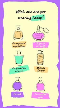 Designvorlage Humorous Perfume quiz für Instagram Video Story