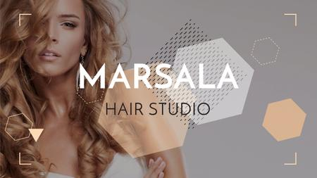 Template di design Hair Studio Ad Woman with Blonde Hair Youtube
