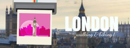 London Big Ben Famous Travelling Spot Facebook Video cover Tasarım Şablonu