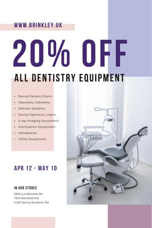 Template di design Dentistry Equipment Sale with Dentist Office View Pinterest