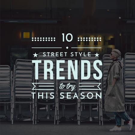 Plantilla de diseño de Stylish Woman on City Street Instagram