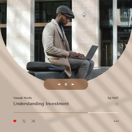 Financial Podcast Topic Announcement Instagram Design Template